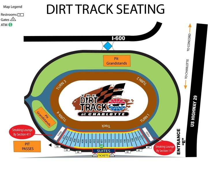 Charlotte motor speedway makes stands smoke free racing for Charlotte motor speedway dirt track
