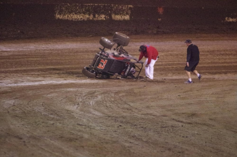 darland flips after win.